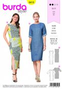 6418 Burda Pattern: Ladies Dress